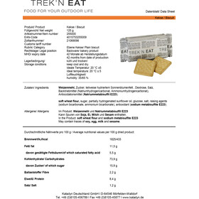 Trek'n Eat Tactical Day Ration Pack - Nutrition outdoor - Typ 2 marron
